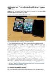 Fichier PDF apple mise sur lextension de la taille de ses ecrans diphone
