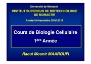 cours bio cell   chap i   1ere a isbm 2018 2019