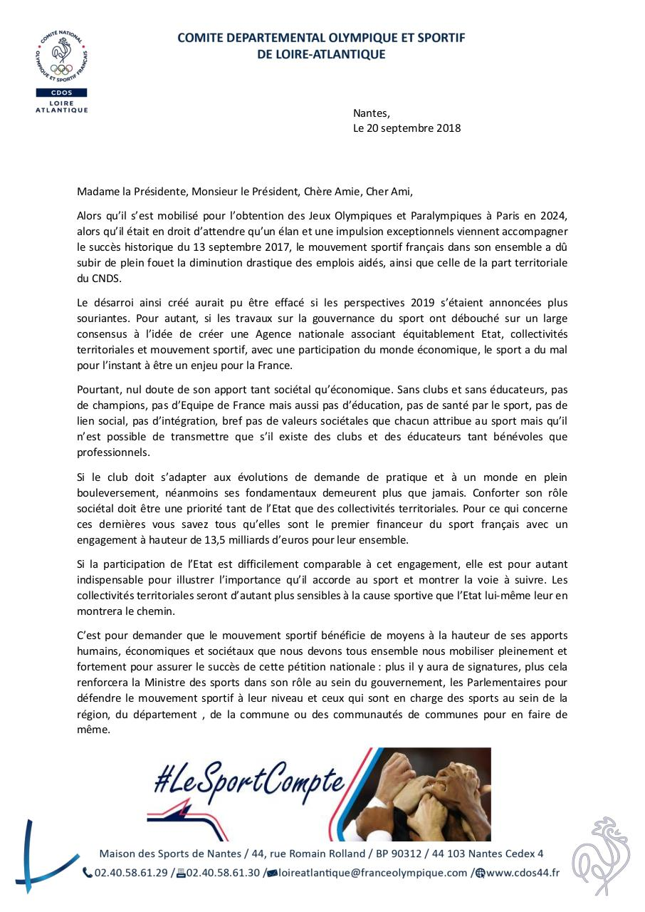 Courrier pétition nationale financement du sport.pdf - page 1/2