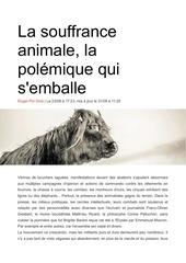 la souffrance animale la polemique qui semballe