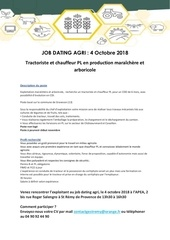 offre job dating agri tractoriste chauffeur pl