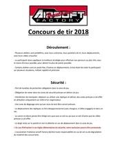 reglement  programme concours de tir 2018