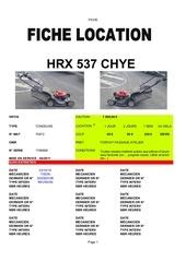 fiche location hrx537chye