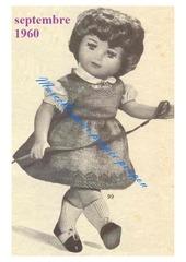 1960 09 mfrancoise en robe et guimpe