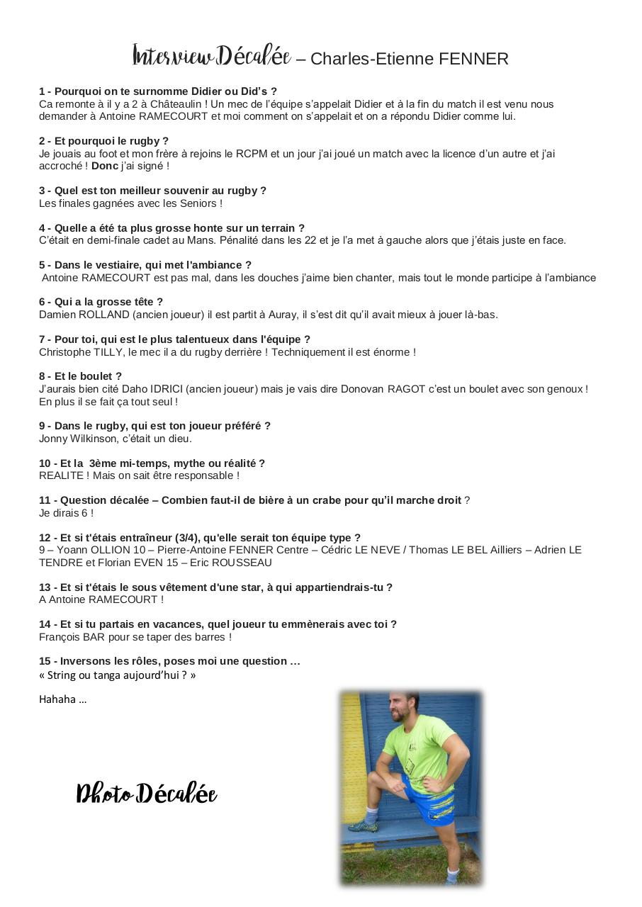Aperçu du document Interview Décalée - Charlie.pdf - page 1/1