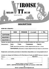 la viroise 2018   inscription