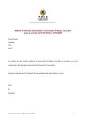 bulletin dadhesion individuelle