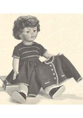 1962 02 mfrancoise robe et gilet tricotes