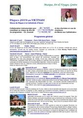 paques 2019   programme vietnam