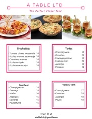 finger food list