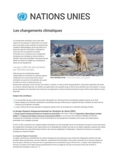 informations climat nations unies