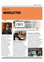 newsletter cosim octobre