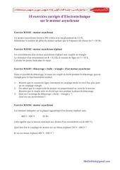 10 exercices courrigesmoteurasynchrone