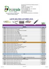 Fichier PDF liste des prix octobre  2018