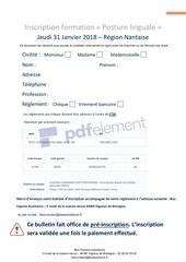 Fichier PDF formulaire dinscription