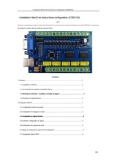 mach3 installation configuration instructionsstb5100fr