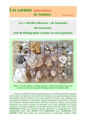 morilles siliceuses santonien charentes d raymond 2018