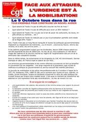 tract manif 9 octobre 2018