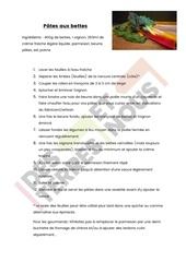 recette bettes