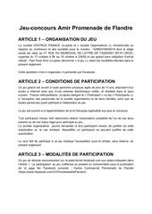 reglement jeu concours amir  pdf