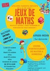 affiche ateliers jeux de maths