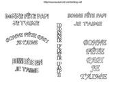 ecriture fete papi a colorier