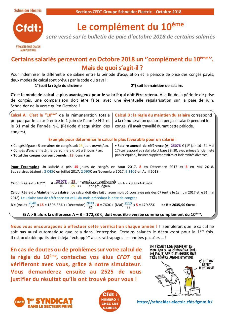 Tract Cfdt Complement Du 10eme 2018 10 Par Thierry J Jacquet