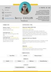 Fichier PDF cv vendeuse caillon betty