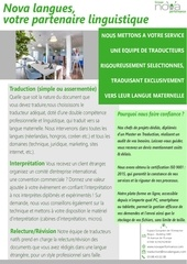 Fichier PDF offre traduction  interpretation
