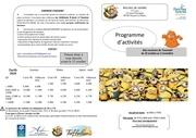 plaquette activites toussaint 2018