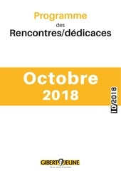 programme des evenements gibert jeune octobre