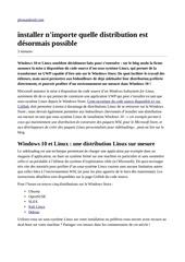 Fichier PDF linux sur windows store