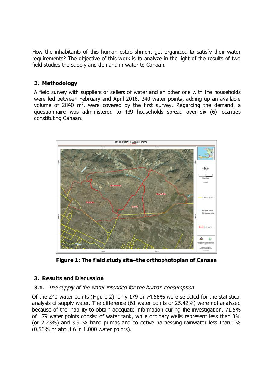 Aperçu du document The water in shantytowns in Port-au-Prince analysis of the offer and demand in Canaan..pdf - page 2/4