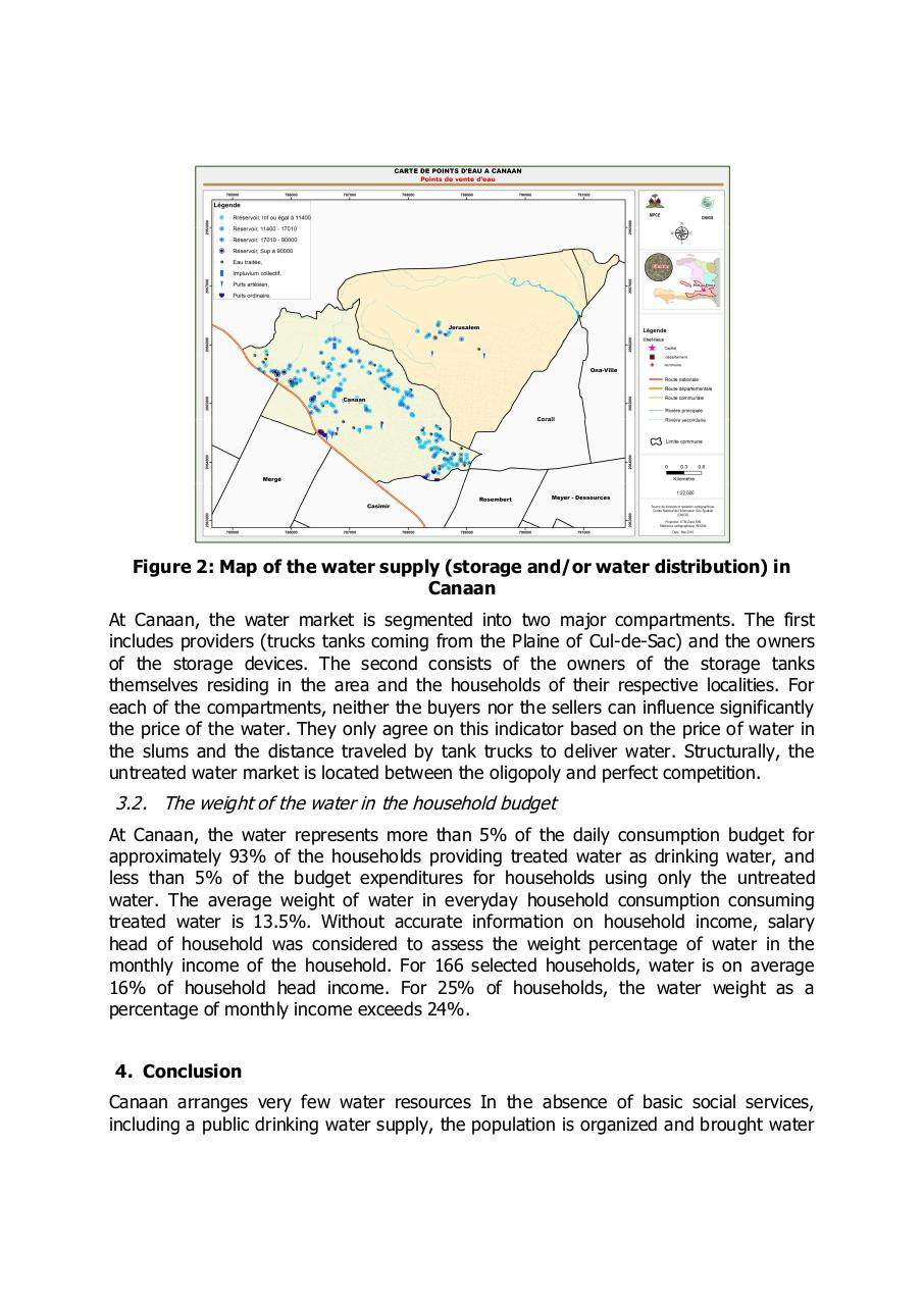 Aperçu du document The water in shantytowns in Port-au-Prince analysis of the offer and demand in Canaan..pdf - page 3/4
