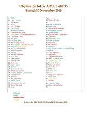 playliste 1  du bal de  dml laille 31