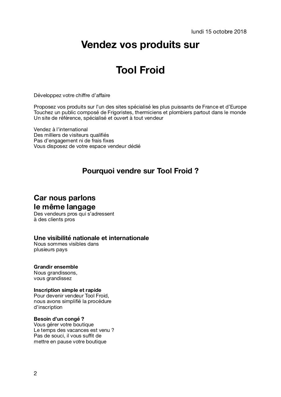 vendez:TOOLFROID French.pdf - page 2/3