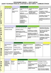 calendrier annuel gestion nature et forets commune dengis