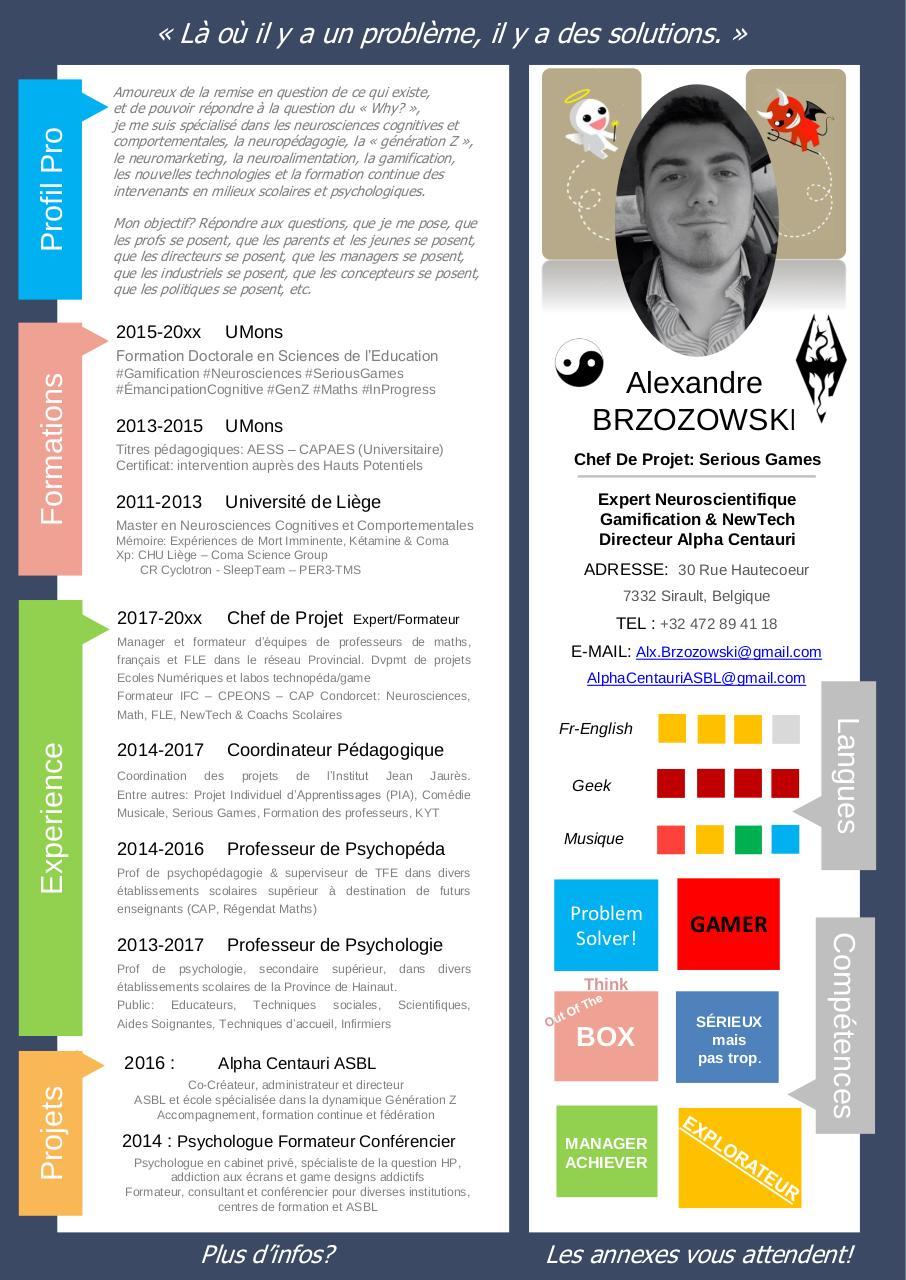 Présentation Powerpoint Par Axel Maille Cv Alex Brzozowski