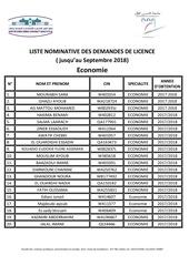 listelicence eco