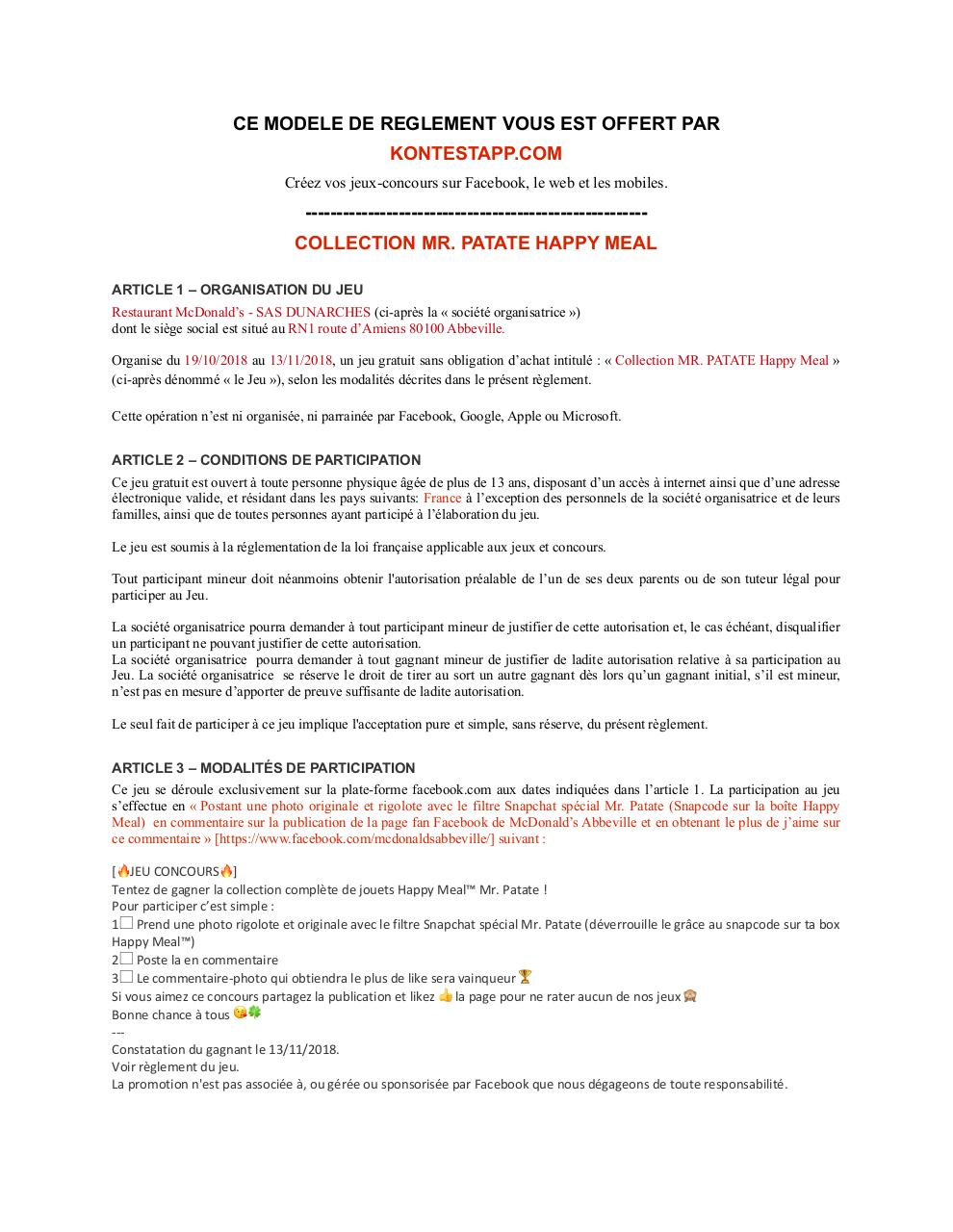 Aperçu du document reglement legal facebook mr patate.pdf - page 1/2