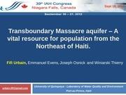 transboundary massacre aquifer iah 2012