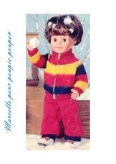 1973 12 jmichel blouson a rayures pantalon rouge