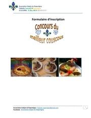 formulaire dinscription concours du meilleur couscous