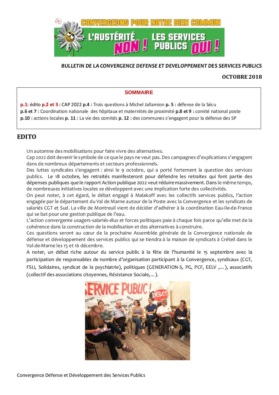 Aperçu du document bulletin convergence nationale octobre 2018(2).pdf - page 1/12