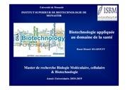 cours biotech appl d sante   master bmcb   isbm 2018 2019