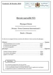 Fichier PDF devoir 1 tronc commun