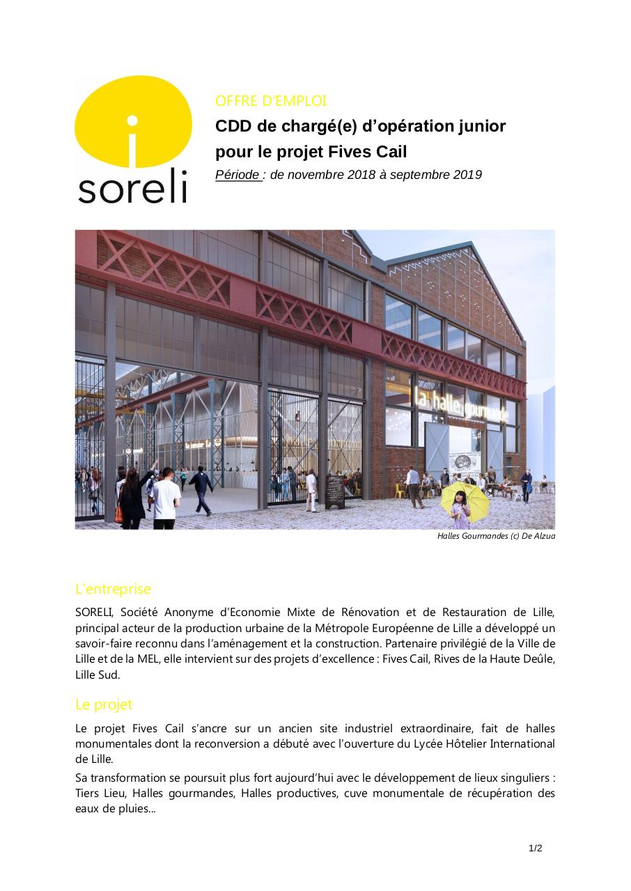Annonce CDD projet Fives Cail.pdf - page 1/2