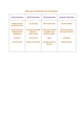 menu de la cantine du 3 decembre