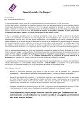 Fichier PDF securite sociale en danger