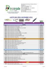 Fichier PDF liste des prix novembre  2018
